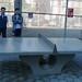 Council Member Chin plays ping pong