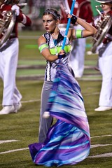 grand champion focus (stephenvance) Tags: color nikon guard marshall knights marching d200 midland cabell cmhs