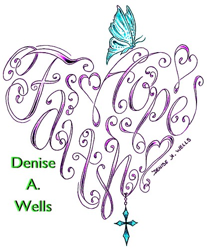 Faith & Hope Heart Tattoo Design by Denise A. Wells