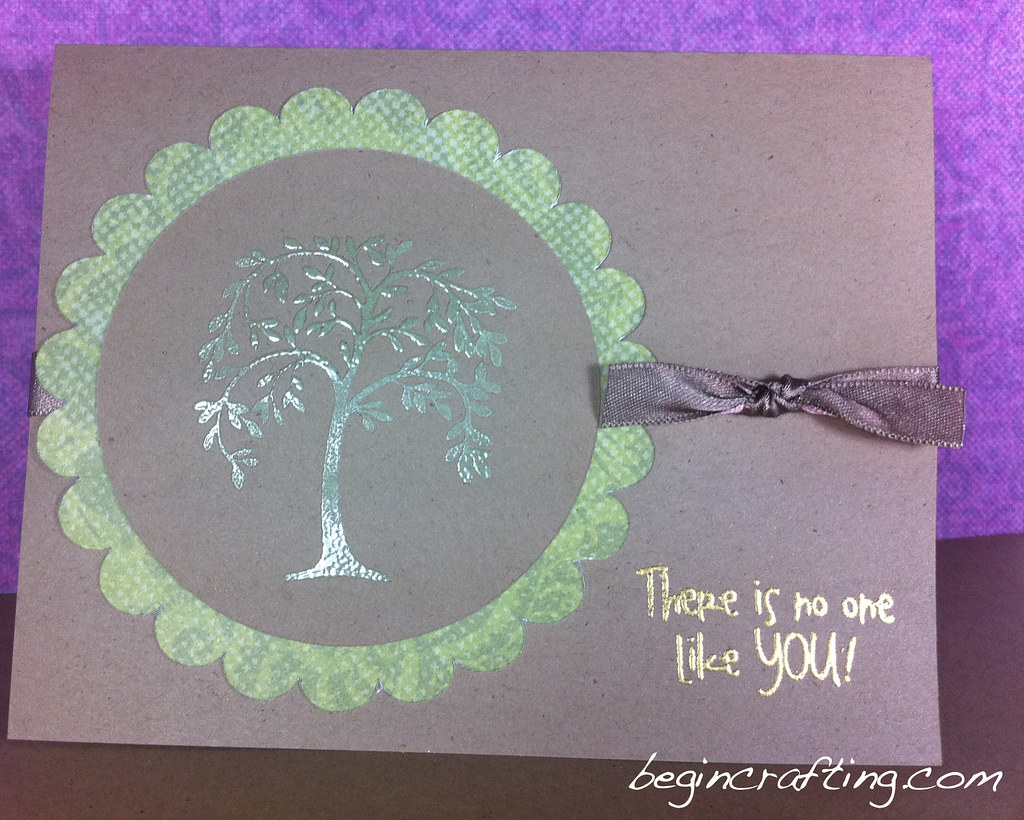 Handmade Embossed Tree Card