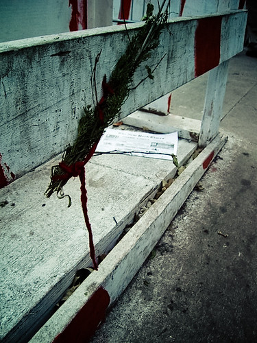 Flowers Crying Blood at Ground Zero, New York 2001