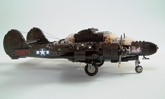P-61B Black Widow (6) (Mad physicist) Tags: lego military wwii blackwidow northrop p61 nightfighter p61b