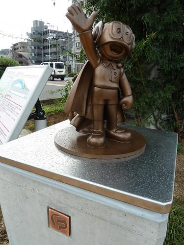 パーマンの銅像(1号側)