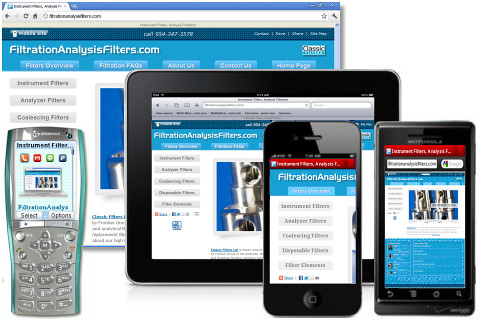 Instrument Filters and Industrial Filtration Solutions Marketed via Mobile-Friendly Web Design by Miami Web 3.0 Developer