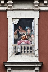Srnade estompe (Gerard Hermand) Tags: woman man paris france window canon paper paint femme mandolin peinture pasted papier fentre homme coll titian titien mandoline formatportrait eos5dmarkii 1109064795 gerardhermand