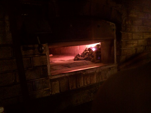 Grimaldi's, the pizza oven