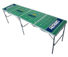 San Diego Chargers Tailgating, Camping & Pong Table
