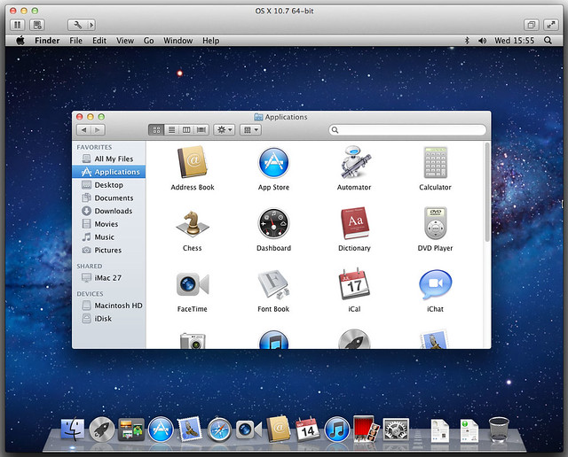 OS X Lion in VMware Fusion 4 on Lion