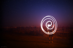 Life is a Spiral (Ben Heine) Tags: life door uk longexposure morning blue santiago light orange lightpainting art colors field silhouette night contrast circle stars spiral photography death vanishingpoint seaside scary spain colorful experimental photographer play marisa magic horizon fear creative experiment surreal orb happiness bleu study ciel human madness experience santiagodecompostela future laser nightmare orbe universe dimension symphony aura collaboration inaction ether fantme toiles afterlife junkies porm skt torment startrail fallingstar hypnose auroreborale lightsources startrack shadom petersquinn benheine borealisaurora lifeisaspiral