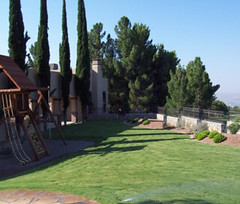 A residential property in El Paso irrigated with reclaimed water