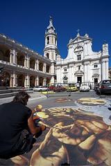 Il Madonnaro 02 (Promix The One) Tags: blu basilica cielo piazza marche disegno canoneos1dsmarkii autostoriche madonnaro loretoan doubleniceshot sigmadg1530f3545exasph