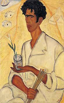 Rubin, Reuven (1893-1974) - 1922 Self-Portrait with a Flower (Rubin Museum, Tel Aviv, Israel)