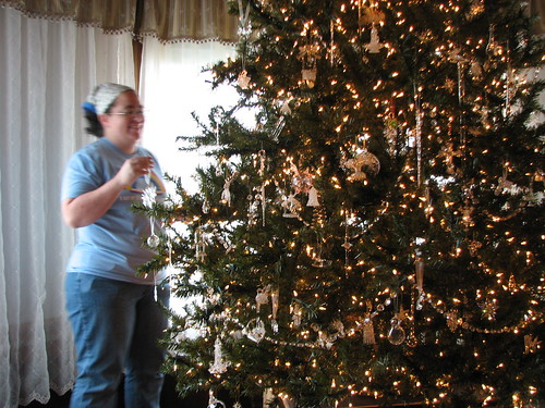 "decorating the ""glass tree"""