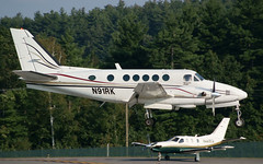Beechcraft Kingair A100 N91RK (FlyingJ31) Tags: boston private manchester photo airport king sony air picture pic business photograph alpha beechcraft propeller regional beech prop a100 kingair twinprop mht tbm700 socata kmht n91rk n449ca