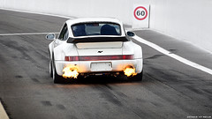 RagingUnbeatableFlamethrower. (DENNISVDMEIJS.NL Photography) Tags: white photoshop photography spring nikon belgium 911 belgi automotive turbo dennis circuit spa wit 930 v6 turbocharged ruf pitlane francorchamps 2011 meijs 70300vr 930turbo circuitdespafrancorchamps d7000 dennisvdmeijs porschedays2011