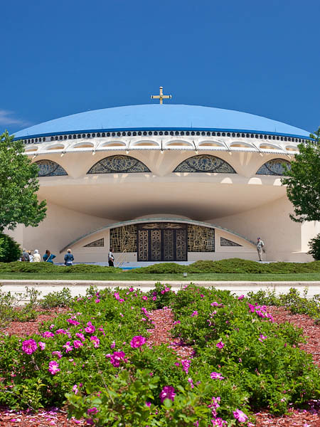 Annunciation Greek Orthodox Church with Rose Garden