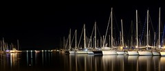 i oo vi co  (Greta) Tags: sardegna sea night port harbor reflex mare sardinia ship barche porto vela notte alghero riflesso gretamancini