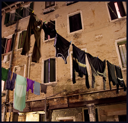 laundry in the night by hans van egdom
