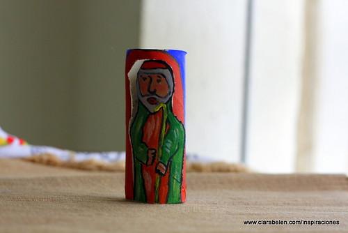 Manualidades_Belén fabricado con rollo de papel