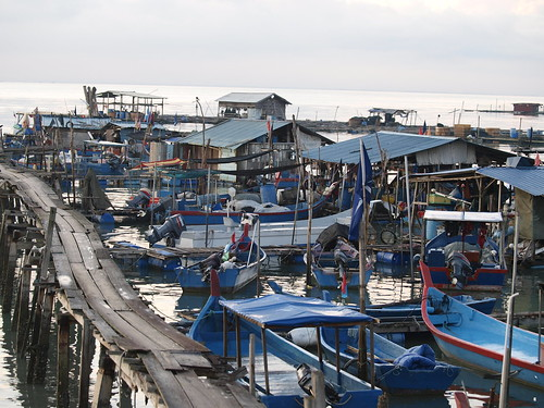 Fishing boats, Malaysia, photo by Jamie Oliver, 2008