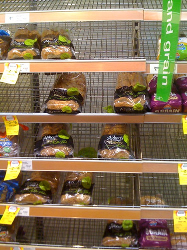 Nobody wants the green bread