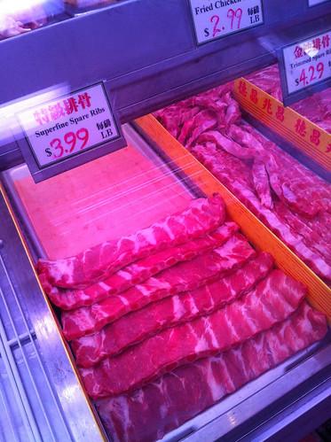 Spare ribs at Bayard Meat Market