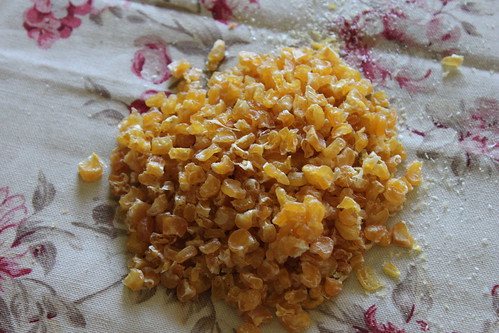 Dehydrated sweet corn