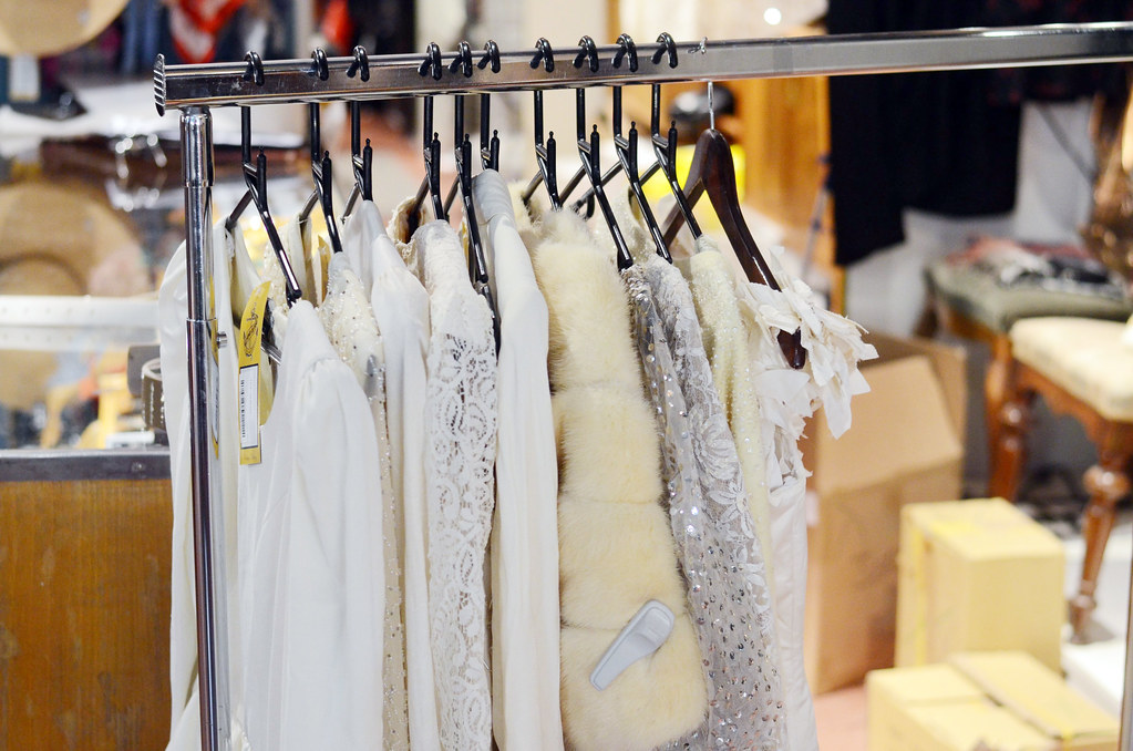 personal vintage shopping for a wedding dress.