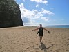 Trish at Kalalau Beach