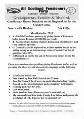All Scotland Pensioners Party Scottish Election Leaflet, 2011 (Scottish Political Archive) Tags: party scotland election glasgow scottish publicity campaign pensioners 2011 deuchars deuchards sscup