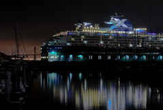 voyage x (pbo31) Tags: sanfrancisco voyage california summer black night nikon x cruiseship fishermanswharf pier35 d700