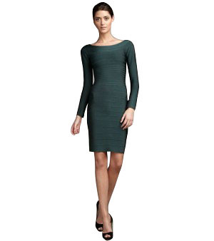 Herve Leger L006 Long Sleeve Bandage Dress  Color  Green Contact with hervelegerrobe@gmail.com Top Quality . Low price Herve Leger