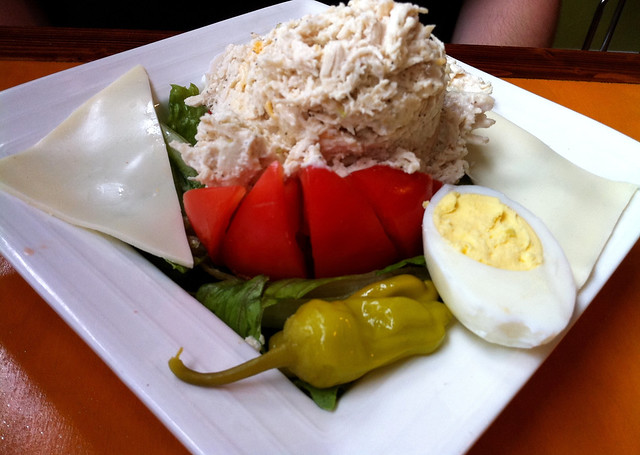 Stuffed tomato with chicken salad from Stone Soup Cafe, Memphis, Tenn.