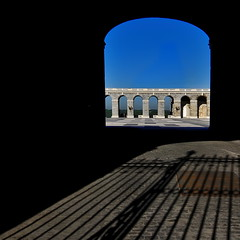 Discovering  Madrid (Tati@) Tags: madrid light shadows arcade porch palacioreal mygearandme mygearandmepremium mygearandmebronze mygearandmesilver mygearandmegold mygearandmeplatinum mygearandmediamond