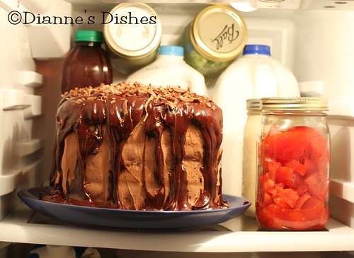 Triple Chocolate Ganache Cake: In the Fridge