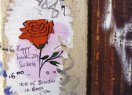 Suanie birthday wall in Berlin
