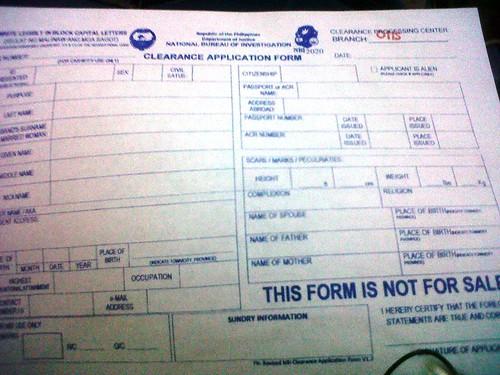 NBI form