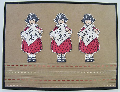 Three Girls Note Card
