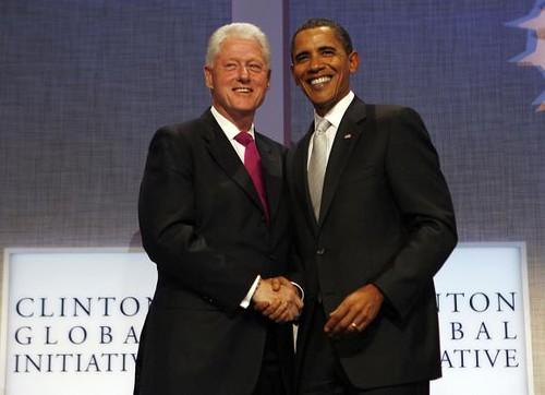 Билл Клинтон и Барак Обама на Clinton Global Initiative