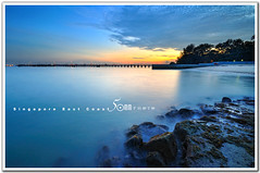 Singapore East Coast Park - sunset (fiftymm99) Tags: sunset beach coast yahoo seaside google nikon marine singapore rocks wave parade east milky d300 fiftymm99 gettyimagessingaporeq2