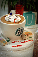 My birthday..22.sep..XD (  l alshoog36re  IN USA) Tags: hot love cup girl cake happy 22 nikon day chocolate birth m special starbucks surprise sep  doha qatar drank   2011   hbd        d80         alshoog36re