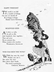 Milkweed Seed (katinthecupboard) Tags: wind poems pediatrics vintagechildrensbooks childrens vintage vintagechildrensillustrations illustrations vintagechildrenspoetry