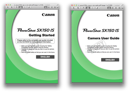 Canon PowerShot SX150 IS Manuals – Getting Started | Camera User Guide