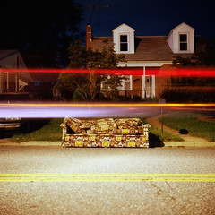 couch (Sam-Lehman) Tags: street camera old light 120 film night analog vintage photography photo md focus long exposure streak photos kodak maryland baltimore september iso couch photograph 100 manual asa yashica parkville ektar 2011