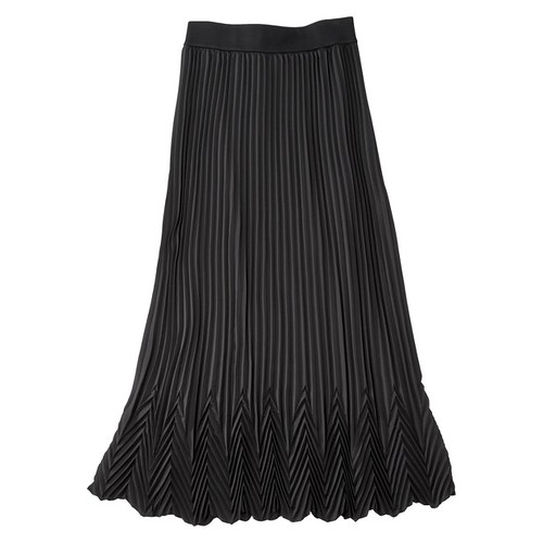 $49.99 Pleated Maxi Skirt - Black