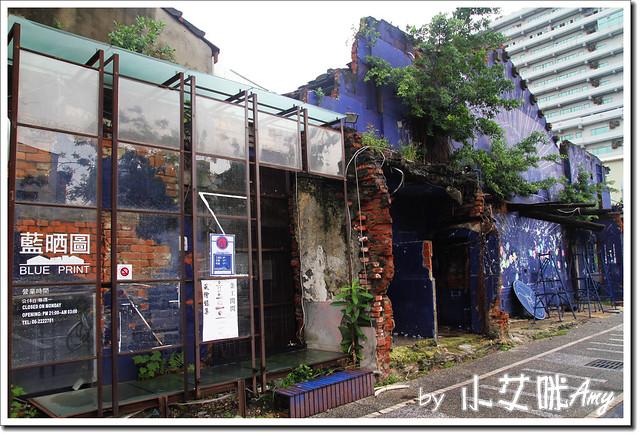 單車環島第四天 (22) 台南市海安路藝術街藍晒圖