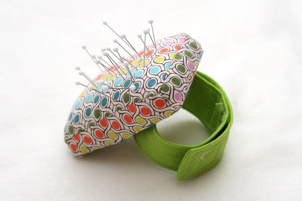 Stitched By Crystal Tutorial Wrist Pincushion