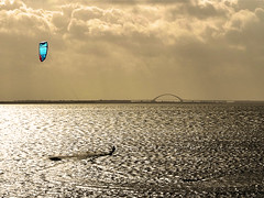 gone kitin' [explored] (parkerbernd) Tags: sea kite germany lumix warm surf surfing baltic filter fehmarn warming orth fehmarnsundbrcke lx3