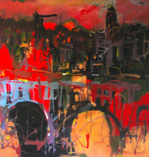 Remember --  Paris             120 x 120 cm
