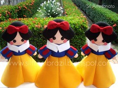 Snow White (Sil Artesanato) Tags: white snow cute princess felt neve feltro branca fieltro